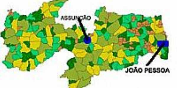 Mapa de Localiza��o - Assun��o-PB