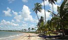 Baía da Traição - Casas na praia da Baía da Traição-Foto:Zoca