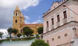 Bananeiras - Bananeiras-PB-Praça central,Igreja e Casarão Patrimõnio Histórico-Foto:Mais Brasil Turismo