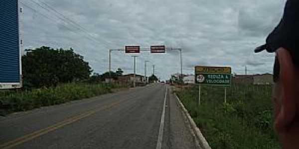 Baraúna-PB-Entrada da cidade-Foto:jornaldebarauna.