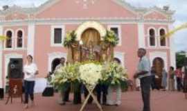 Barra de São Miguel - Andor diante da Igreja na celebração de São Miguel Arcanjo, Por Ana Paula G. V. Da Silva Costa