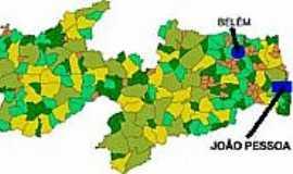 Belém - Mapa de Localização - Belém-PB