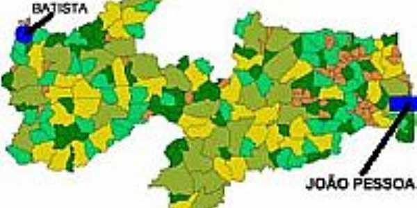 Mapa de Localização - Bernardino Batista-PB