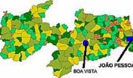 Boa Vista - Mapa de Localização - Boa Vista-PB