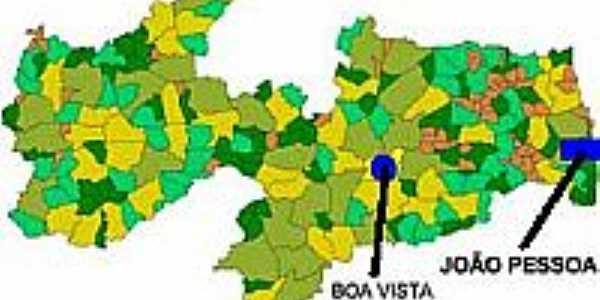 Mapa de Localização - Boa Vista-PB