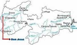 Bom Jesus - Mapa de Localização - Bom Jesus-PB
