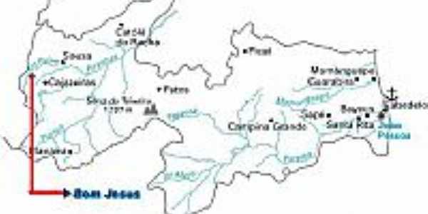 Mapa de Localização - Bom Jesus-PB