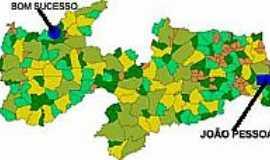 Bom Sucesso - Mapa de Localização - Bom Sucesso-PB