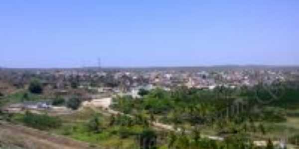 Vista da cidade c/ antigos galpões do DENOCS, Por Mailton Targino.S