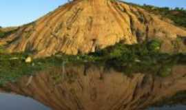 Brejo do Cruz - serra no reflexo da agua, Por ana lucia dantas de almeida