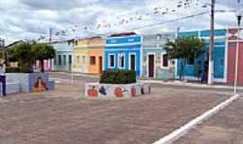Cabaceiras - Praça na entrada da cidade de Cabaceiras-Foto:Edilson V Benvenutti