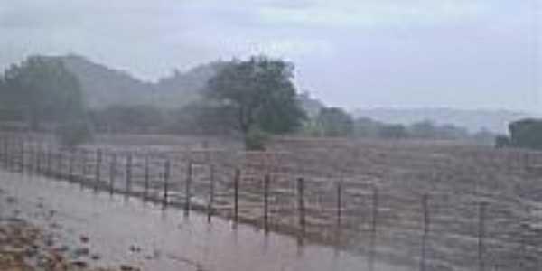 Cacimba de Areia-PB-Chuva no sertão paraibano-FotoPe. Djacy Brasileiro