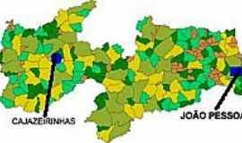 Cajazeirinhas - Mapa de Localização - Cajazeirinhas-PB