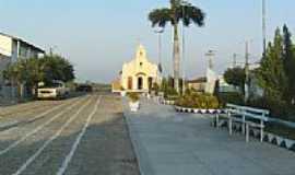 Cajazeirinhas - Vista da Praça e Igreja Matriz-Foto:Rodrigo Dantas