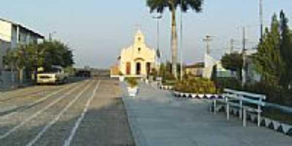 Vista da Praça e Igreja Matriz-Foto:Rodrigo Dantas
