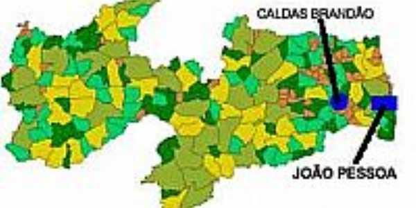 Mapa de Localização - Caldas Brandão-PB