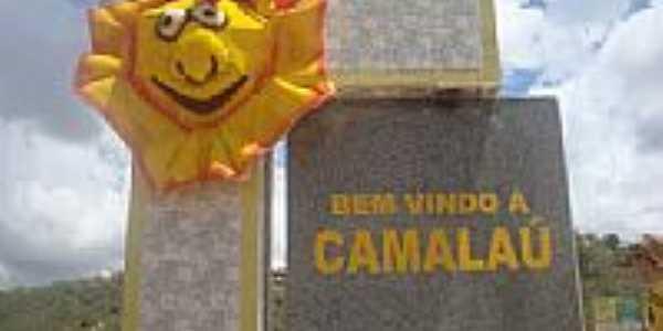 Portal da cidade durante o carnaval em Camala�-PB-Foto:@ivandrobqueiroz