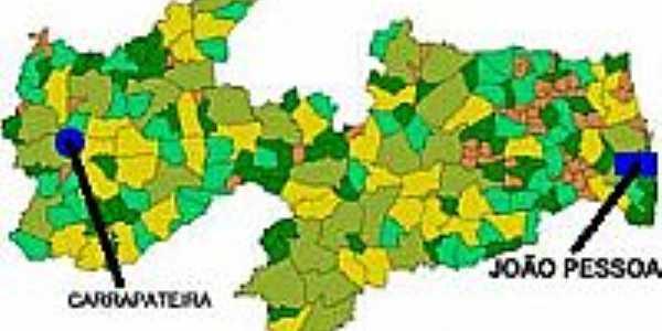 Mapa de Localização - Carrapateira-PB