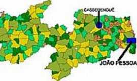 Casserengue - Mapa de Localização Casserengue-PB