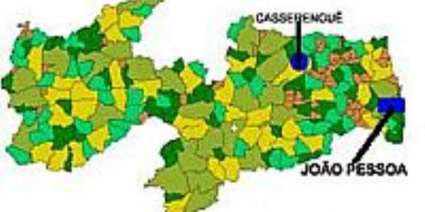 Mapa de Localização Casserengue-PB