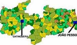 Catingueira - Mapa de Localização - Catingueira-PB