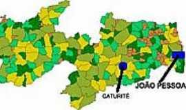 Caturité - Mapa de Localização - Caturité-PB