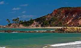 Conde - Conde-PB-Falésias e a praia-Foto:www.passagembarata.com.br