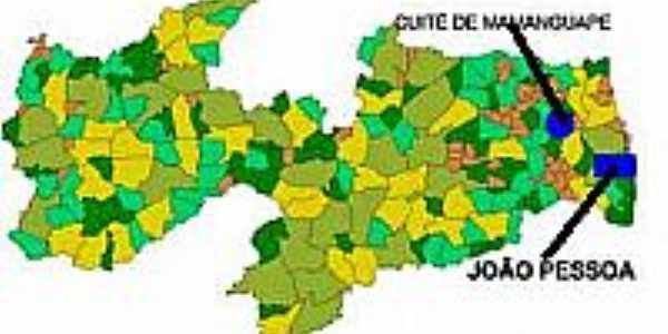 Mapa de Localização - Cuité de Mamanguape-PB