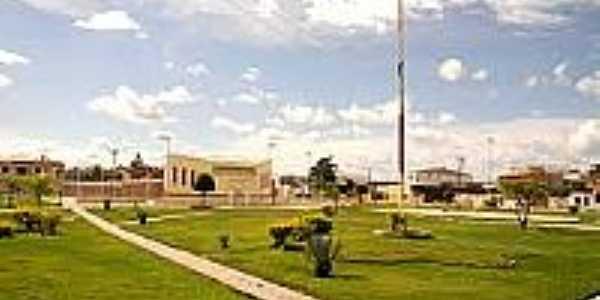 Praça no centro de Cansanção-BA-Foto:portaldenoticias.