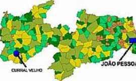 Curral Velho - Mapa de Localização - Curral Velho-PB
