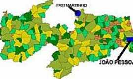 Frei Martinho - Mapa de Localização - Frei Martinho-PB