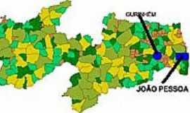 Gurinhém - Mapa de Localização - Gurinhém-PB