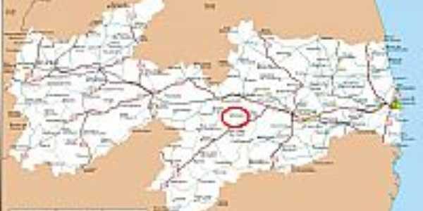 Mapa de Localização - Gurjão-PB