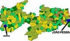 Ibiara - Mapa de Localização - Ibiara-PB