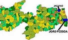 Jacaraú - Mapa de Localização - Jacaraú-PB