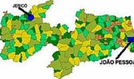 Jericó - Mapa de Localização - Jericó-PB