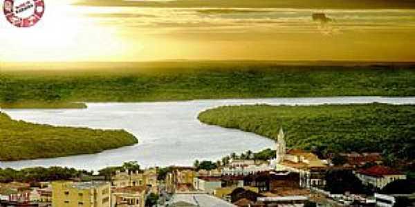 João Pessoa PB - Vista do centro histórico as margens do Rio Paraíba