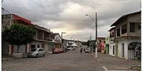 Juarez Távora-PB-Rua central da cidade-Foto:Egberto Araújo