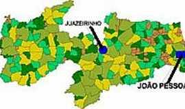 Juazeirinho - Mapa de localização - Juazeirinho-PB