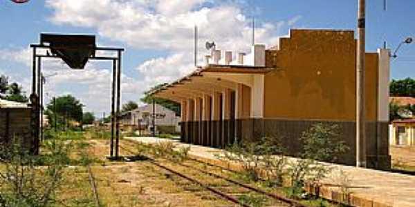 Antiga estação ferroviária em Juazeirinho-PB Foto: Valtécio Rufino