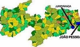 Juripiranga - Mapa de Localização - Juripiranga-PB