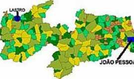 Lastro - Mapa de Localização - Lastro-PB