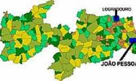 Logradouro - Mapa de Localização - Logradouro-PB