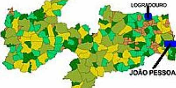 Mapa de Localização - Logradouro-PB
