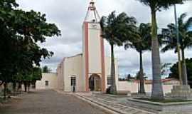 Manaíra - Praça e Igreja de Manaíra-PB-Foto:esantoslma