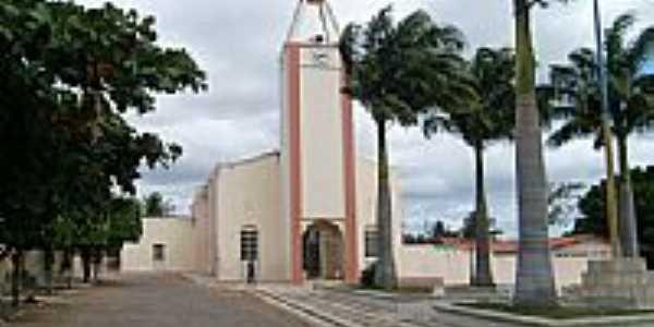 Praça e Igreja de Manaíra-PB-Foto:esantoslma