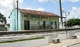 Mari - Mar�-PB-Antiga Esta��o Ferrovi�ria,hoje R�dio Comunit�ria Ara�a FM-Foto:OTAC�LIO BEN�CIO