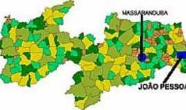 Massaranduba - Mapa de Localização - Massaranduba-PB
