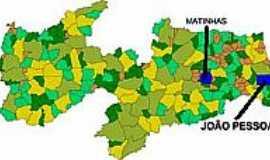 Matinhas - Mapa de Localização - Matinhas-PB