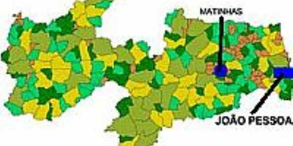 Mapa de Localização - Matinhas-PB
